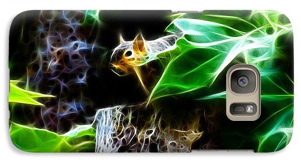 Galaxy Case featuring the digital art Fractal - Peek A Boo II - Robbie The Squirrel - 8242 by James Ahn