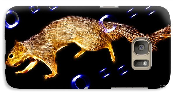 Galaxy Case featuring the digital art Fractal - Searching -  Robbie The Squirrel -7828 by James Ahn