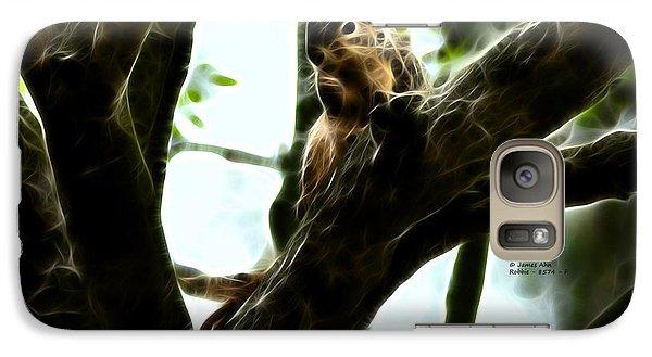 Galaxy Case featuring the digital art Fractal - Thumb Sucker - Robbie The Squirrel - 8574 by James Ahn
