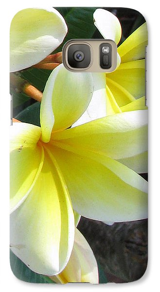 Galaxy Case featuring the photograph Frangipani Up Close by Debi Singer