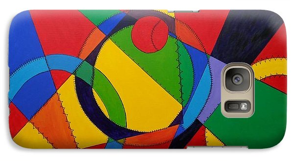 Galaxy Case featuring the painting Frankenball by Julie Brugh Riffey