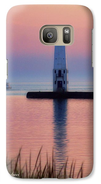 Galaxy Case featuring the photograph Frankfort Lighthouse by Joan Bertucci