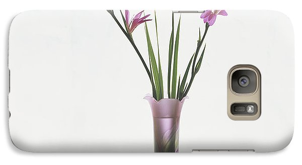 Galaxy Case featuring the photograph Freesias In Vase by Susan Rovira