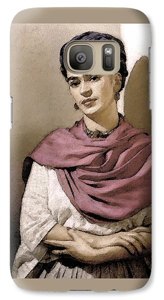 Galaxy Case featuring the photograph Frida Interpreted 2 by Lenore Senior