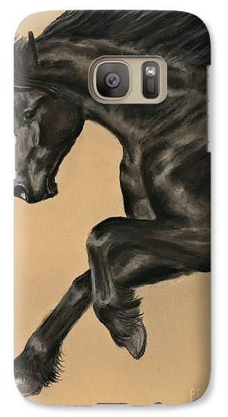 Galaxy Case featuring the painting Friesian Portrait by Sheri Gordon