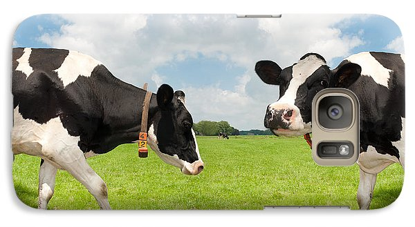 Galaxy Case featuring the photograph Frisian Cows by Hans Engbers