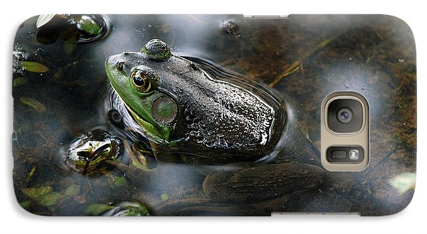 Galaxy Case featuring the photograph Frog In The Millpond by Kay Lovingood