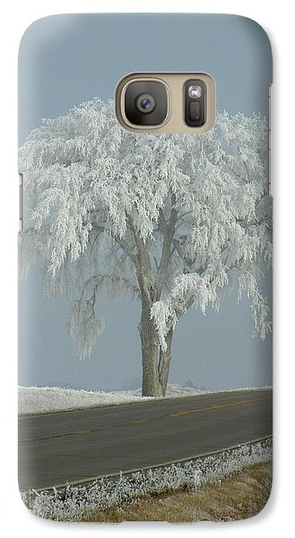 Galaxy Case featuring the photograph Frost On The Big Tree  by Penny Meyers