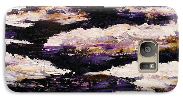 Galaxy Case featuring the painting Frozen River by Karen  Ferrand Carroll
