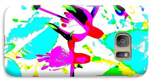 Galaxy Case featuring the digital art Fuchsia by Barbara Moignard