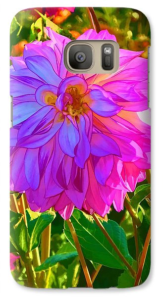 Galaxy Case featuring the photograph Fuchsia Delight by Ken Stanback