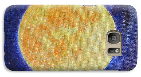 Galaxy Case featuring the painting Full Moon by Sonali Gangane