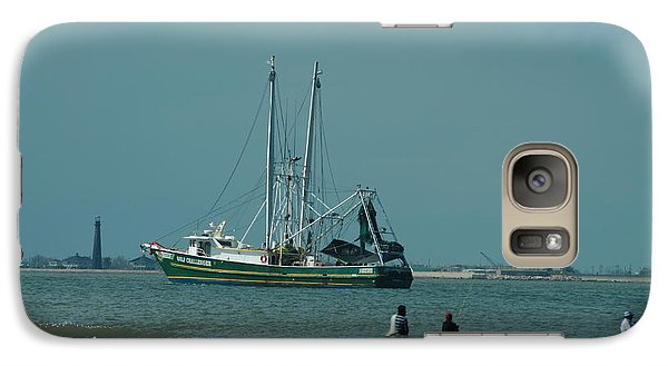 Galaxy Case featuring the photograph Galveston Fishing by Cheryl Perin