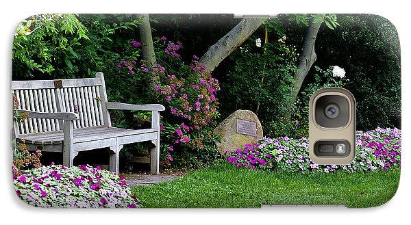 Galaxy Case featuring the photograph Garden Bench by Michelle Joseph-Long