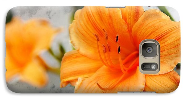Galaxy Case featuring the photograph Garden Lily by Davandra Cribbie