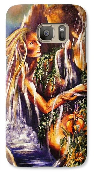 Galaxy Case featuring the painting Garden Of Earthly Delights by Karen  Ferrand Carroll