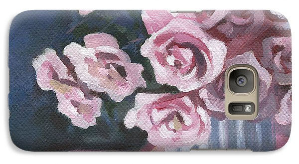 Galaxy Case featuring the painting Garden Roses by Natasha Denger