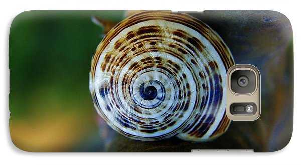 Galaxy Case featuring the photograph Garden Snail On Frangipani  by Werner Lehmann