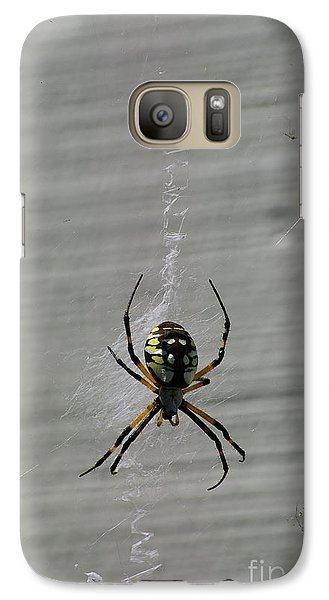 Galaxy Case featuring the photograph Garden Spider by Tannis  Baldwin