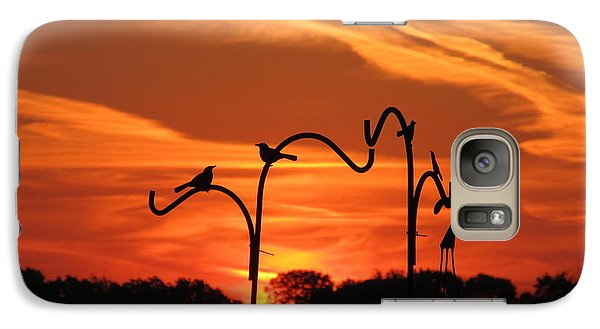 Galaxy Case featuring the photograph Garden Sunrise by Tina M Wenger