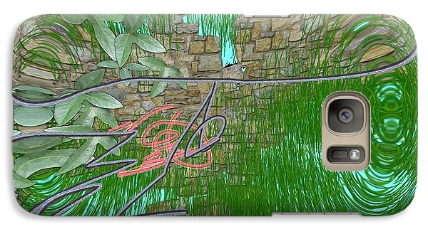 Galaxy Case featuring the digital art Garden Wall by George Pedro