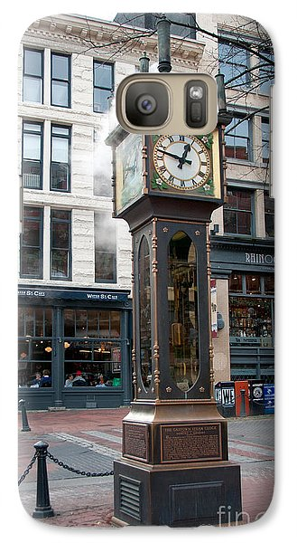 Galaxy Case featuring the digital art Gastown Steam Clock by Carol Ailles