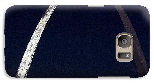 Galaxy Case featuring the photograph Gateway Arch At Night by Nancy De Flon