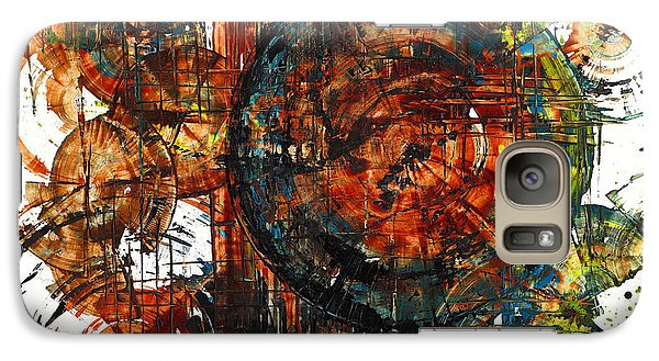Galaxy Case featuring the painting Gaurdian  02.101511 by Kris Haas