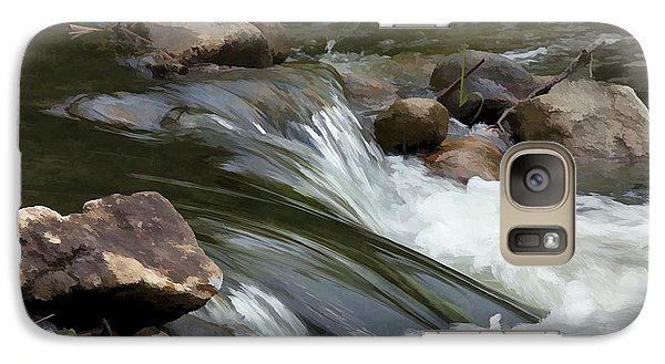 Galaxy Case featuring the photograph Gently Down The Stream by John Crothers