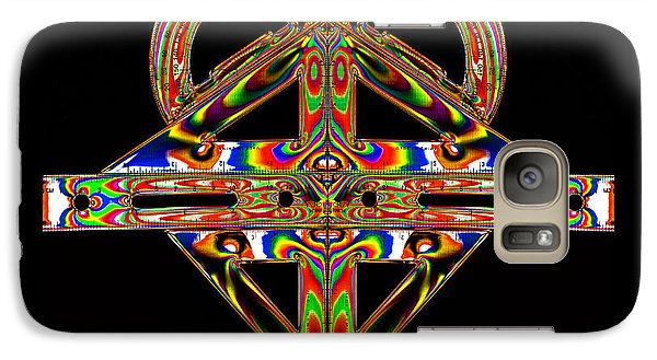 Galaxy Case featuring the photograph Geometry Mask by Steve Purnell
