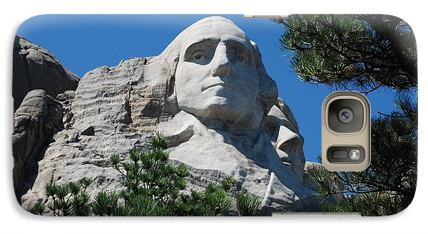 Galaxy Case featuring the photograph George Washington Face  by Dany Lison