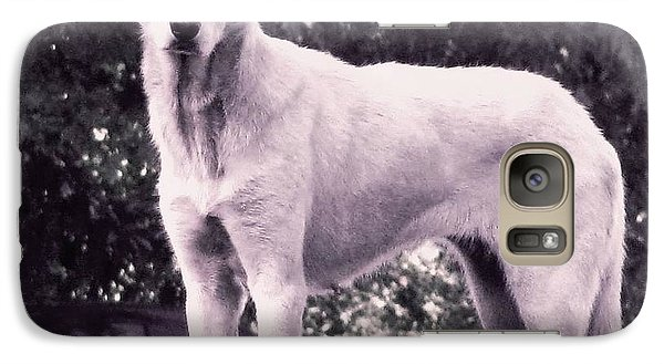 Galaxy Case featuring the photograph Ghost The Wolf by Maria Urso