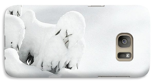 Galaxy Case featuring the photograph Ghostly Snow Covered Bush by Pamela Hyde Wilson