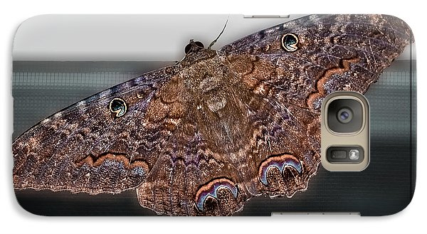 Galaxy Case featuring the photograph Giant Moth by DigiArt Diaries by Vicky B Fuller