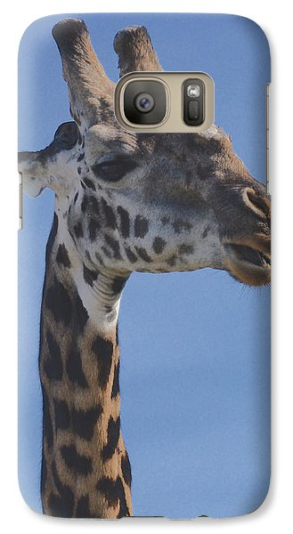 Galaxy Case featuring the photograph Giraffe Headshot by Tom Wurl