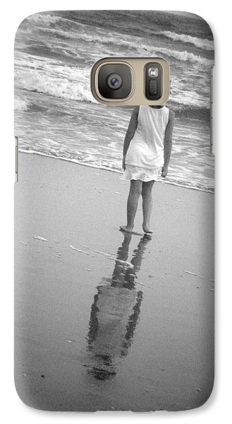 Galaxy Case featuring the photograph Girl By Ocean by Kelly Hazel
