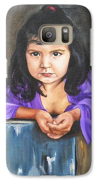 Galaxy Case featuring the painting Girl From San Luis by Lori Brackett