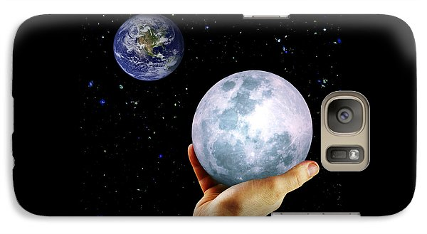 Galaxy Case featuring the photograph Give Her The Moon by Michele Cornelius