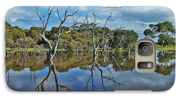 Galaxy Case featuring the photograph Glass Lake by Stephen Mitchell