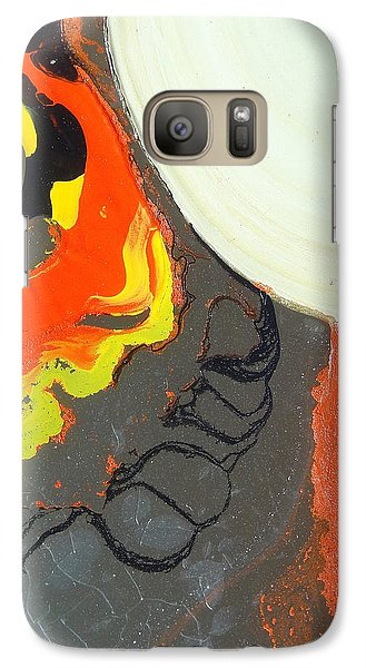 Galaxy Case featuring the painting Glass Painting 22 Detail 2  by Patrick Morgan
