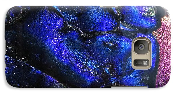 Galaxy Case featuring the painting Glass River by Kathy Sheeran
