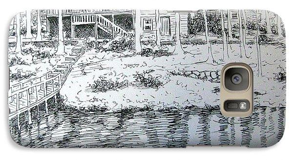 Galaxy Case featuring the pastel Glen's Home by Gretchen Allen