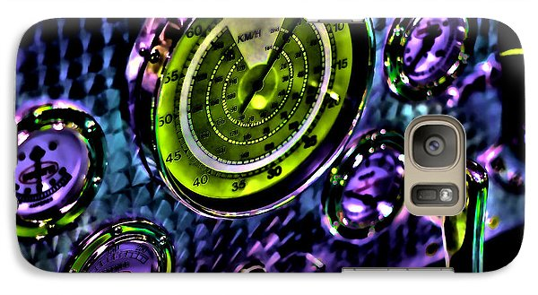Galaxy Case featuring the photograph Glowing Gauges by Jason Abando