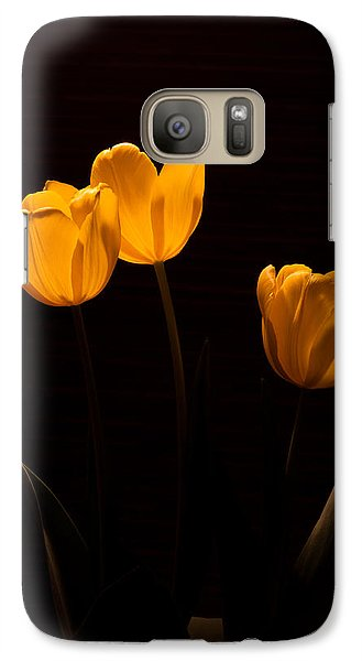 Galaxy Case featuring the photograph Glowing Tulips by Ed Gleichman