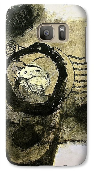 Galaxy Case featuring the painting Go In Post Hole by Cliff Spohn