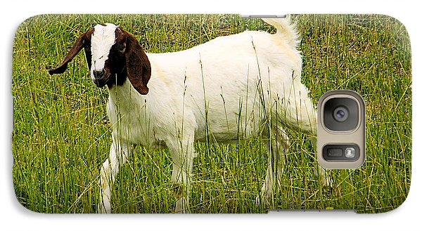 Galaxy Case featuring the photograph Goat Fun by Wendy McKennon