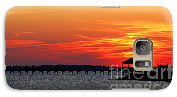 Galaxy Case featuring the photograph Godnight Sound by Linda Mesibov