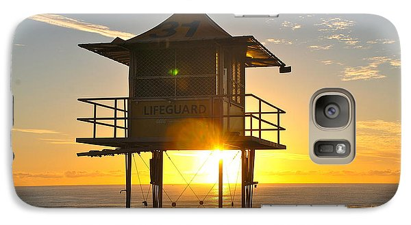 Galaxy Case featuring the photograph Gold Coast Life Guard Tower by Eric Tressler