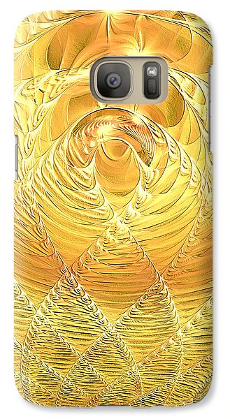 Galaxy Case featuring the digital art Gold Pressed Latinum by Lea Wiggins