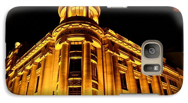Galaxy Case featuring the photograph Golden Building At Night by Kirsten Giving